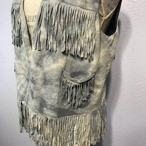 Vintage Faux Suede Fringe Vest
